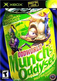 Box cover for Oddworld: Munch's Oddysee on the Microsoft Xbox.