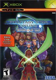 Box cover for Phantasy Star Online Episode I & 2 on the Microsoft Xbox.