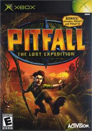 Box cover for Pitfall: The Lost Expedition on the Microsoft Xbox.
