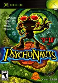 Box cover for Psychonauts on the Microsoft Xbox.