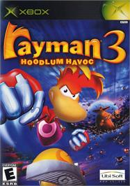 Box cover for Rayman 3: Hoodlum Havoc on the Microsoft Xbox.