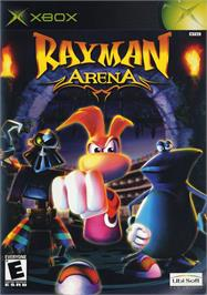 Box cover for Rayman Arena on the Microsoft Xbox.