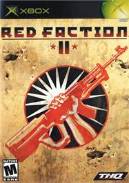 Box cover for Red Faction 2 on the Microsoft Xbox.