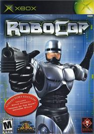 Box cover for Robocop on the Microsoft Xbox.