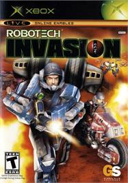 Box cover for Robotech: Invasion on the Microsoft Xbox.