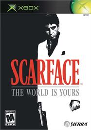 Box cover for Scarface: The World is Yours on the Microsoft Xbox.
