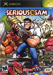 Box cover for Serious Sam on the Microsoft Xbox.