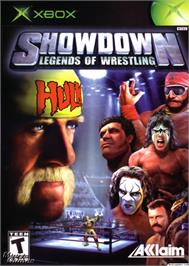 Box cover for Showdown: Legends of Wrestling on the Microsoft Xbox.