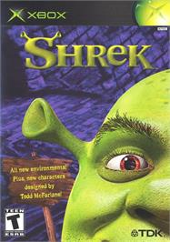 Box cover for Shrek on the Microsoft Xbox.