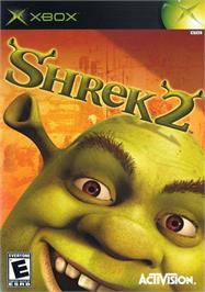 Box cover for Shrek 2 on the Microsoft Xbox.