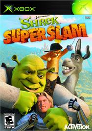 Box cover for Shrek SuperSlam on the Microsoft Xbox.