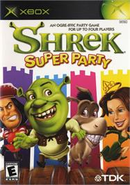 Box cover for Shrek Super Party on the Microsoft Xbox.