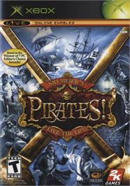 Box cover for Sid Meier's Pirates on the Microsoft Xbox.