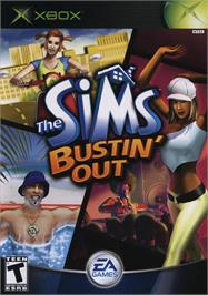 Box cover for Sims: Bustin' Out on the Microsoft Xbox.