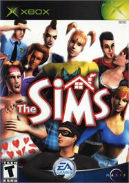 Box cover for Sims on the Microsoft Xbox.