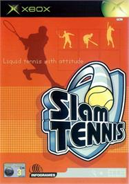 Box cover for Slam Tennis on the Microsoft Xbox.