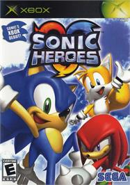 Box cover for Sonic Heroes on the Microsoft Xbox.
