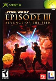 Box cover for Star Wars: Episode III - Revenge of the Sith on the Microsoft Xbox.