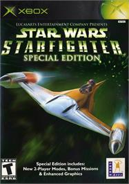 Box cover for Star Wars: Starfighter on the Microsoft Xbox.