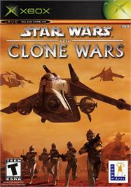 Box cover for Star Wars: The Clone Wars on the Microsoft Xbox.