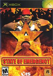 Box cover for State of Emergency on the Microsoft Xbox.
