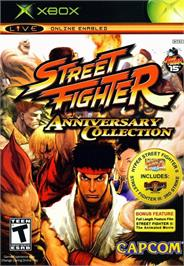 Box cover for Street Fighter: Anniversary Collection on the Microsoft Xbox.