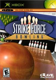 Box cover for Strike Force Bowling on the Microsoft Xbox.