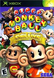 Box cover for Super Monkey Ball Deluxe on the Microsoft Xbox.