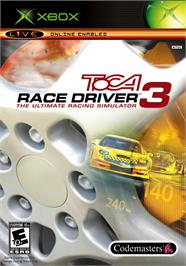 Box cover for TOCA Race Driver 3 on the Microsoft Xbox.