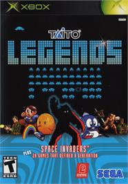Box cover for Taito Legends on the Microsoft Xbox.