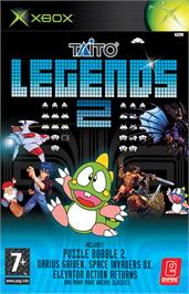 Box cover for Taito Legends 2 on the Microsoft Xbox.