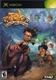 Box cover for Tak: The Great Juju Challenge on the Microsoft Xbox.