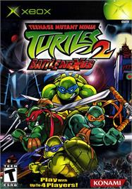 Box cover for Teenage Mutant Ninja Turtles 2: Battle Nexus on the Microsoft Xbox.