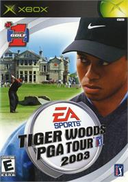 Box cover for Tiger Woods PGA Tour 2003 on the Microsoft Xbox.
