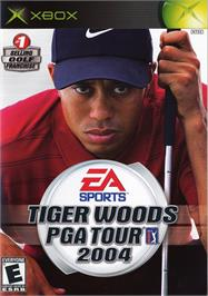 Box cover for Tiger Woods PGA Tour 2004 on the Microsoft Xbox.