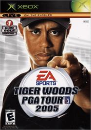 Box cover for Tiger Woods PGA Tour 2005 on the Microsoft Xbox.