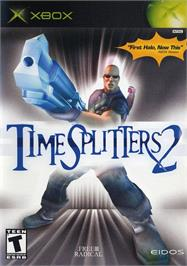 Box cover for TimeSplitters 2 on the Microsoft Xbox.