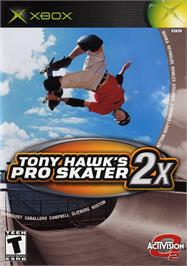 Box cover for Tony Hawk's Pro Skater 2x on the Microsoft Xbox.