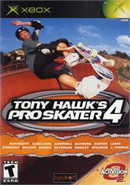 Box cover for Tony Hawk's Pro Skater 4 on the Microsoft Xbox.