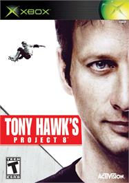 Box cover for Tony Hawk's Project 8 on the Microsoft Xbox.