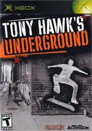 Box cover for Tony Hawk's Underground on the Microsoft Xbox.