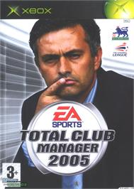 Box cover for Total Club Manager 2005 on the Microsoft Xbox.