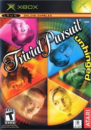 Box cover for Trivial Pursuit: Unhinged on the Microsoft Xbox.