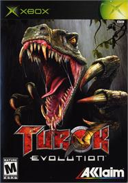 Box cover for Turok: Evolution on the Microsoft Xbox.