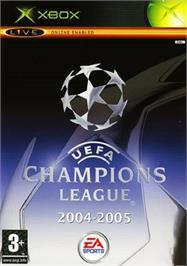 Box cover for UEFA Champions League 2004-2005 on the Microsoft Xbox.