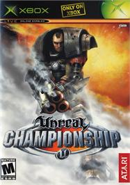 Box cover for Unreal Championship on the Microsoft Xbox.