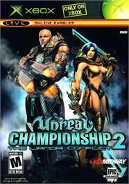 Box cover for Unreal Championship 2: The Liandri Conflict on the Microsoft Xbox.