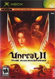 Box cover for Unreal II: The Awakening on the Microsoft Xbox.