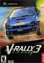 Box cover for V-Rally 3 on the Microsoft Xbox.