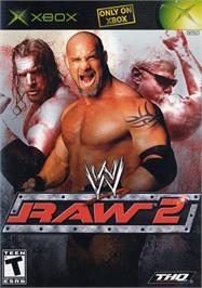 Box cover for WWE Raw 2 on the Microsoft Xbox.